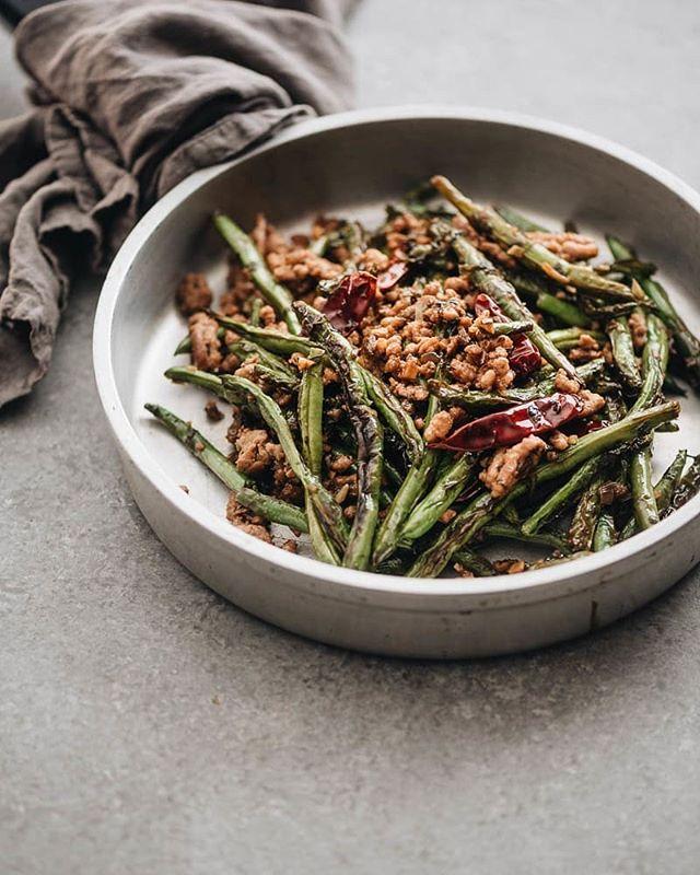 Ginger Garlic Blistered Green Beans