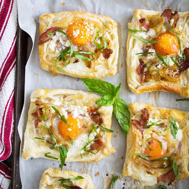 Savory Bacon, Egg And Goat Cheese Breakfast Pastries