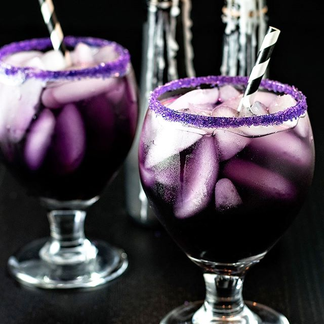 Spooky Purple Cocktail