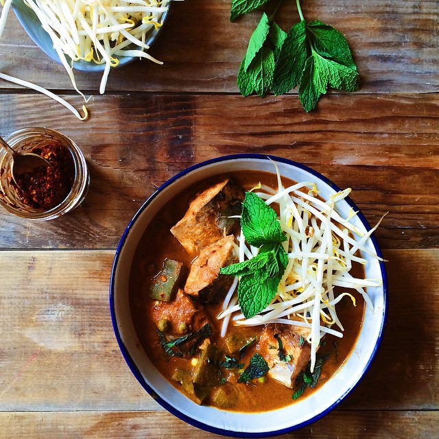 Garlicky Lemongrass Fish Curry