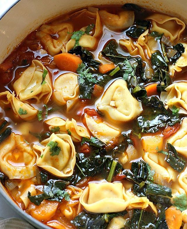 This Veggie Tortellini Soup is a warming and comforting dish, perfect for these cool Fall nights…