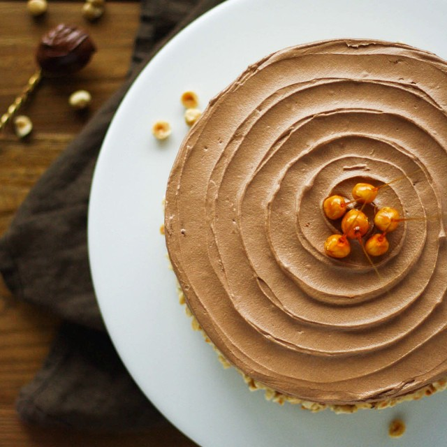 Vanilla Cake With Nutella Buttercream