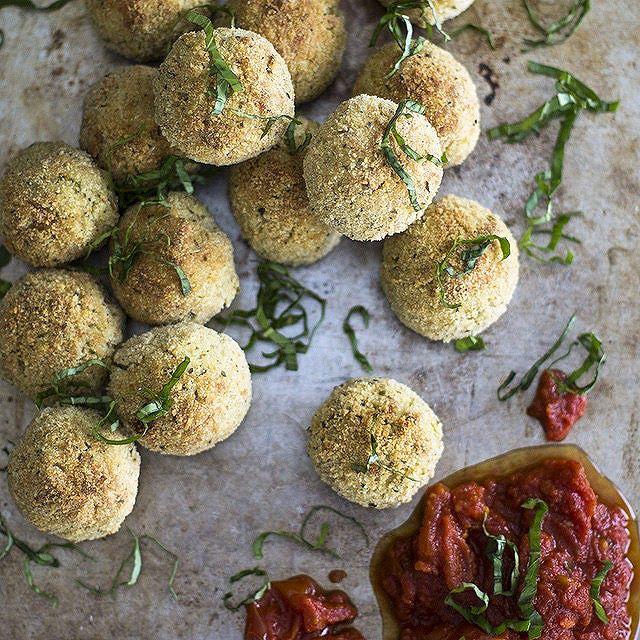 Baked Pesto Risotto Balls