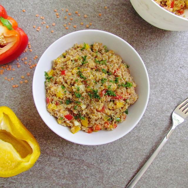 lebanese bulgur Red Lentil Salad