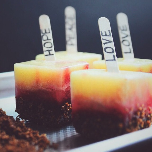 Cherry & Pineapple Popsicles With Chocolate & Candied Pecans