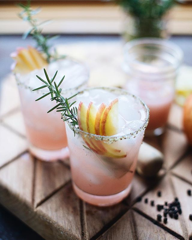 Apple Margaritas With Rosemary Black Pepper Simple Syrup