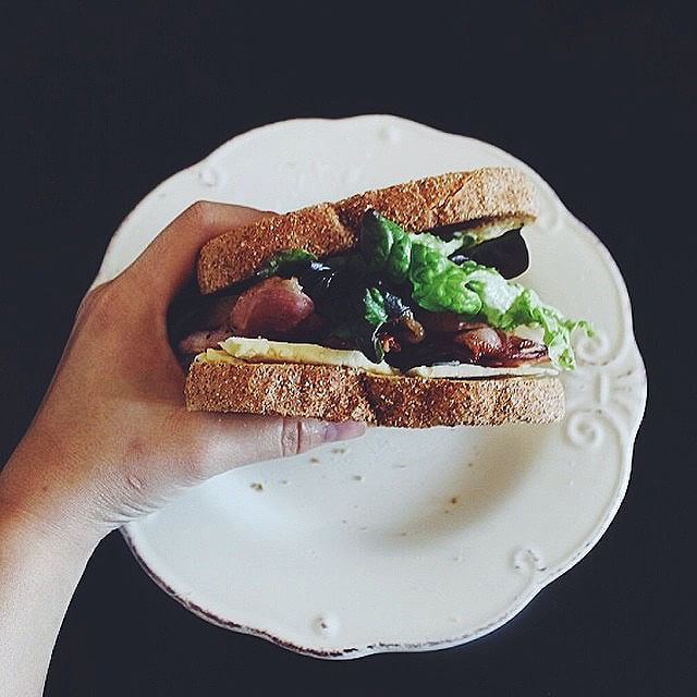 Latergram of the lush BLT I made for the boyfriend and I yesterday. Can you believe I've never made…