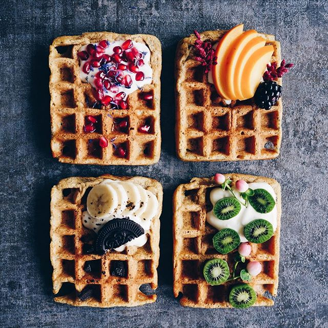 Crispy Vegan Apple Waffles. Because Wednesdays are for waffles, right? Love trying new waffle…