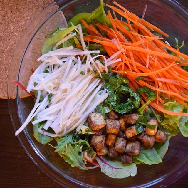 Banh Mi Salad With Five Spice Tofu & Toasted Sesame Oil