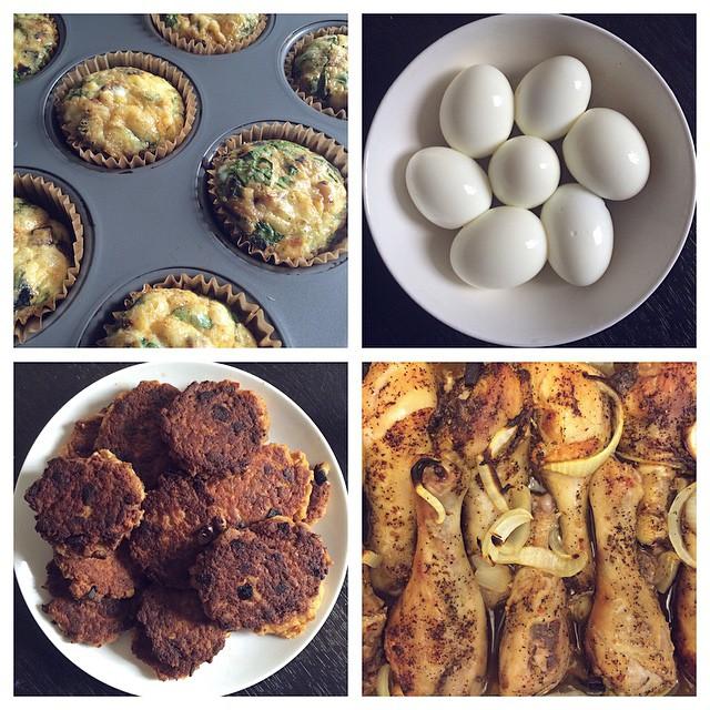 Egg Muffins, Paleo Salmon Patties & Chicken Drumsticks