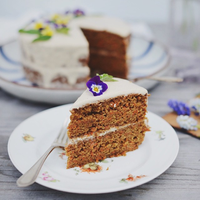 Carrot Cake With Labneh-coconut Frosting