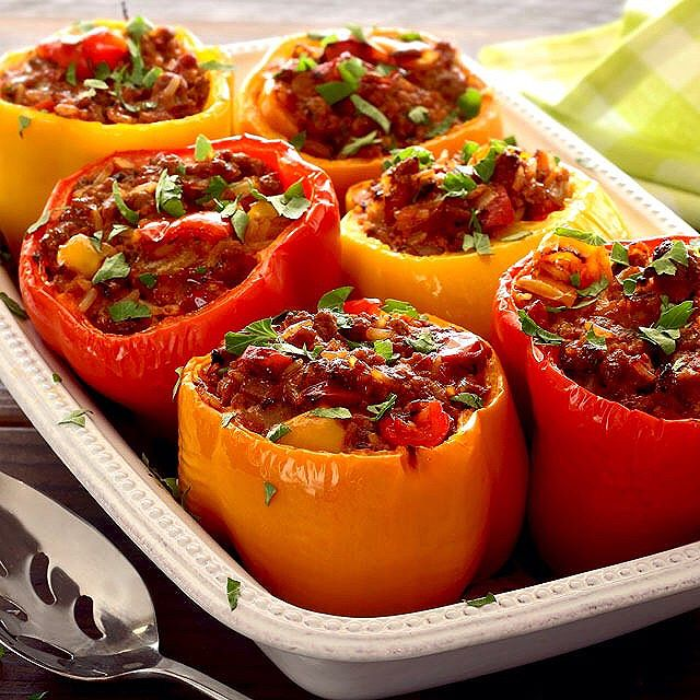 Beef And Pork Stuffed Bell Peppers