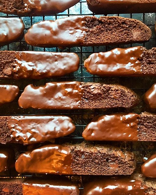 Tripple Chocolate Dipped Biscotti