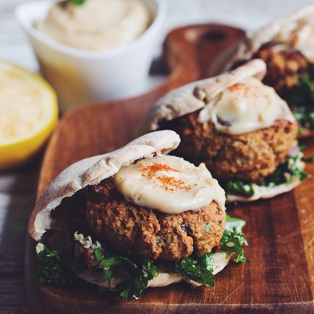 Falafel Sliders With Hemp Heart Tabbouleh And Maple Tahini Sauce