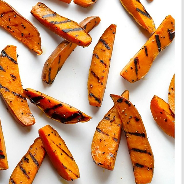 Sweet & Salty Grilled Sweet Potato Fries