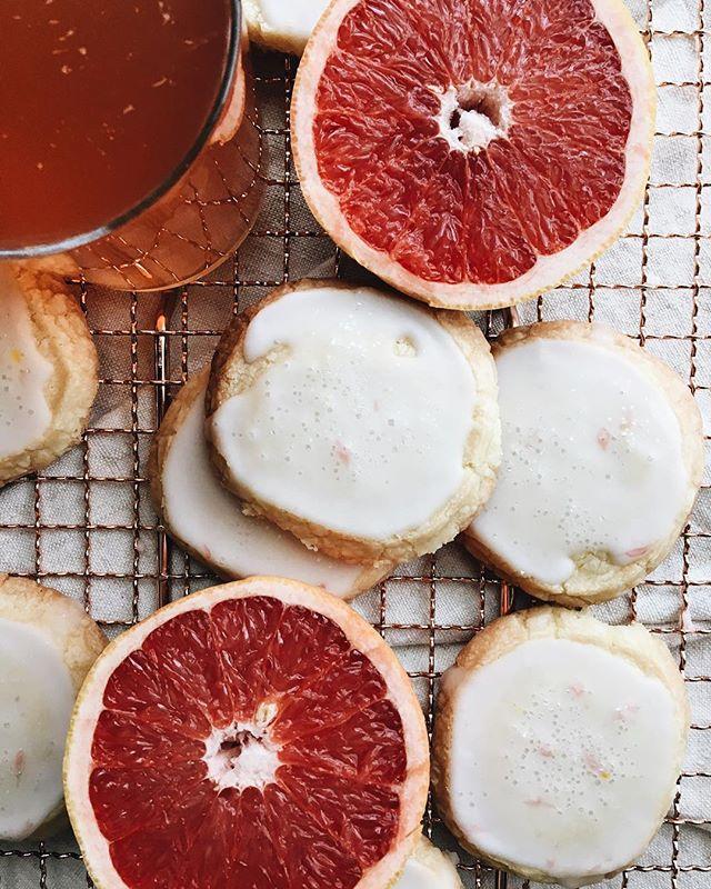 Citrus Shortbread Cookies With Grapefruit Glaze