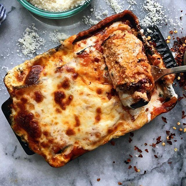 Comforting Baked Cheesy Eggplant Rollatini