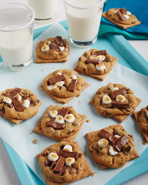 It's #nationalcookieday, and what better way to celebrate that with decadent S'mores Cookies? We use…