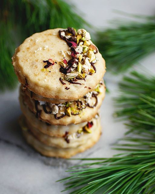 Rose Water And Orange Shortbread Cookies