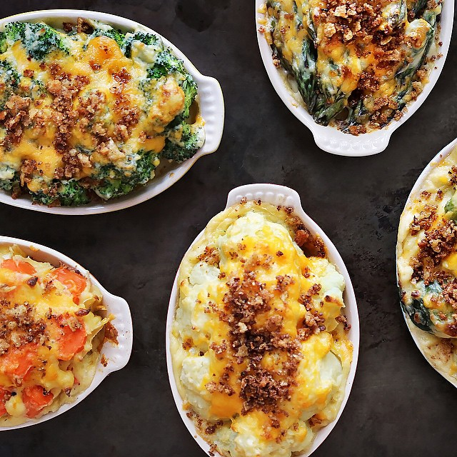 Vegetable Casseroles Of Brussels Sprouts, Carrots, Cauliflower Or Asparagus