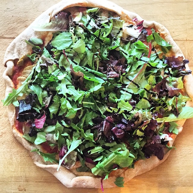 On the menu tonight: THIS pizza! Mozzarella, marinara, tomato, artichoke, red onion & avocado…