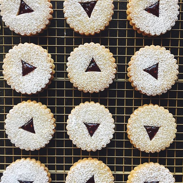 These dainty beauties will always be my favorite. Linzer Cookies forever.