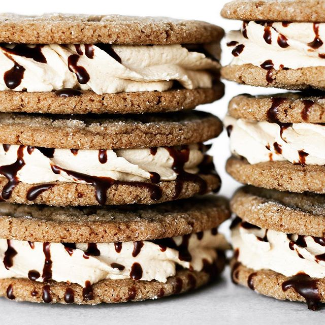 Chewy Ginger Sandwich Cookies