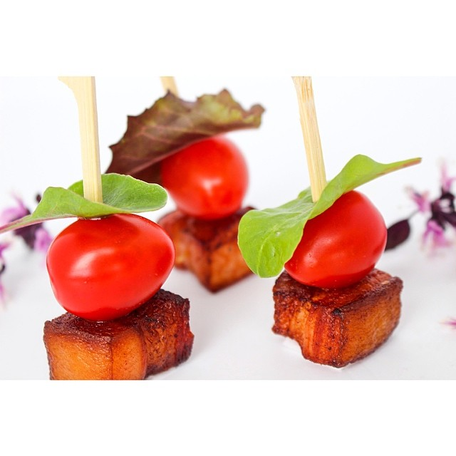 BLT skewers, testing recipes for @houwelingstomatoes
