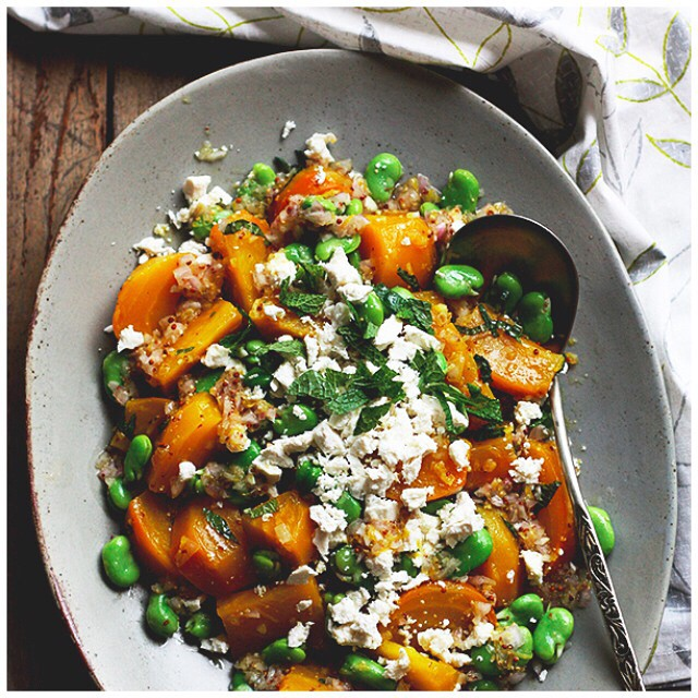 Golden Beets With Fava Beans And Mint
