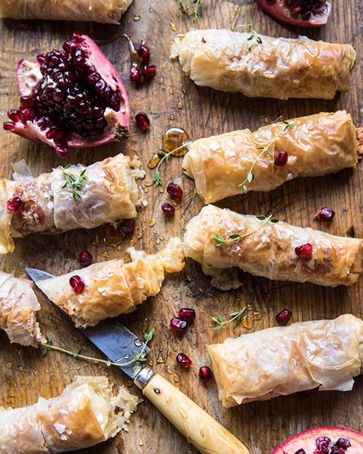 Baked Brie And Prosciutto Phyllo Rolls With Honey