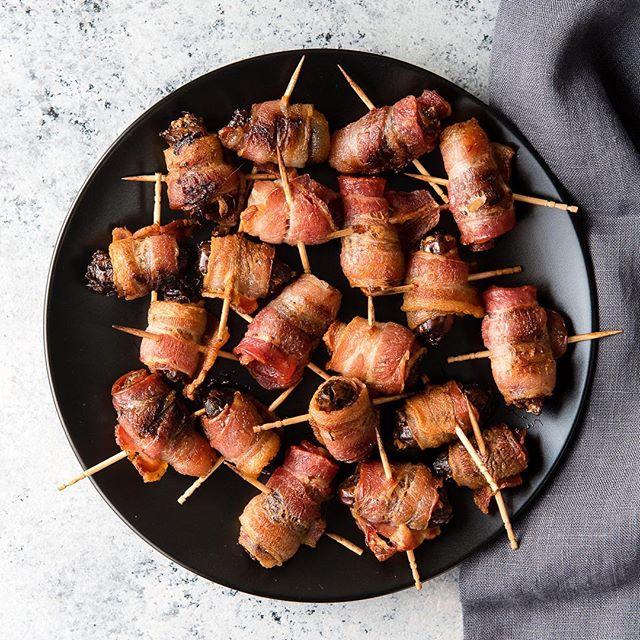Bacon Wrapped Smoked Almond Stuffed Dates