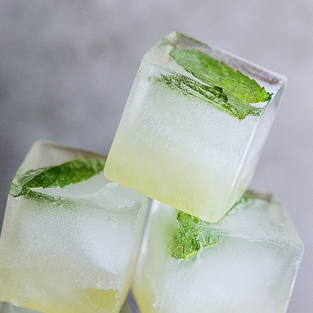 Inside-out Mojito Ice Cubes
