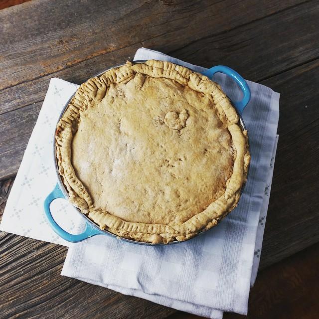 Veggie Pot Pie With Biscuit Crust