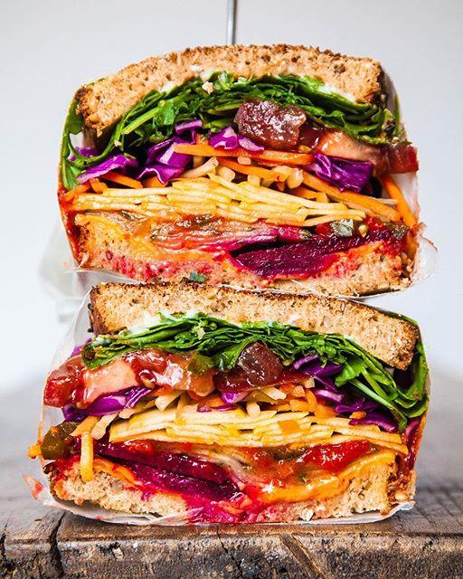 Rainbow Veggie Sandwich | TheFeedFeed
