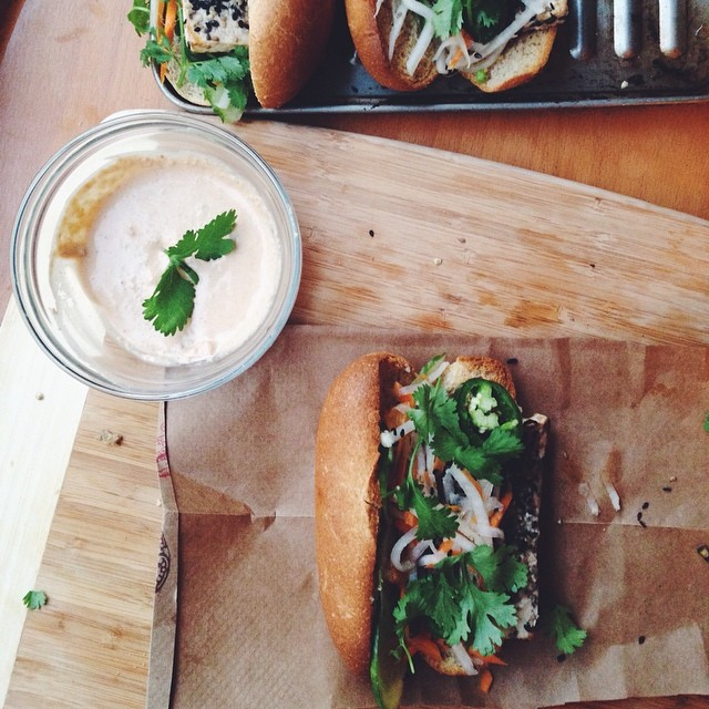 Vegan Bánh Mì With Homemade Sunflower Pate & Daikon Slaw