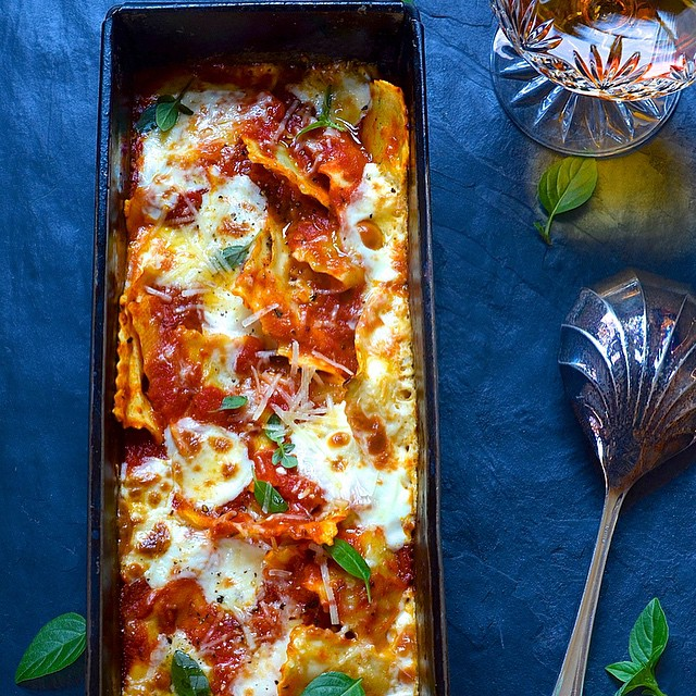 Spinach And Ricotta Baked Ravioli