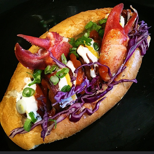 Sonoran Hot Dogs With Lobster