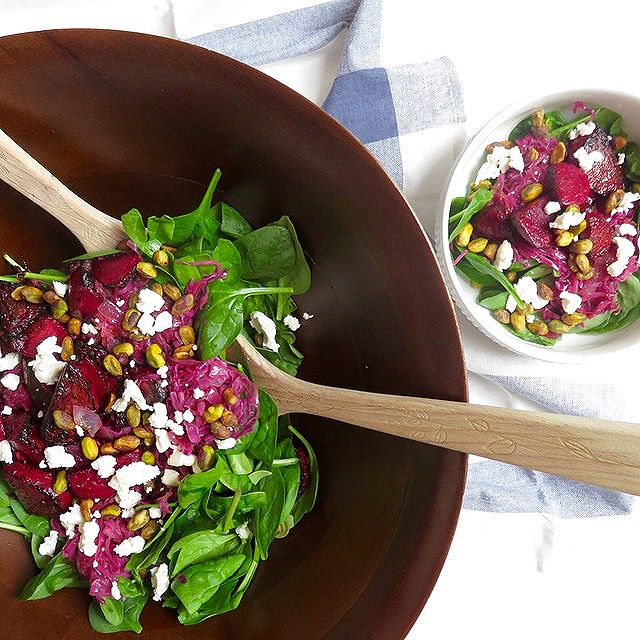 Cabbage And Beet Salad With Goat Cheese And Pistachios
