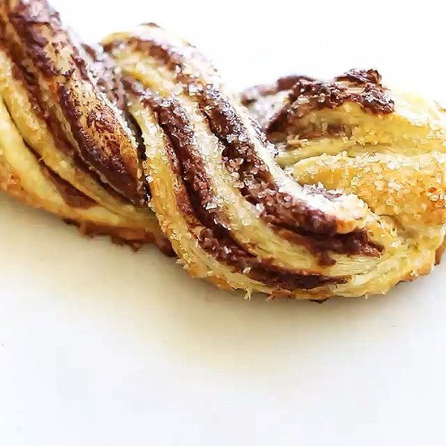Puff Pastry Chocolate Twists