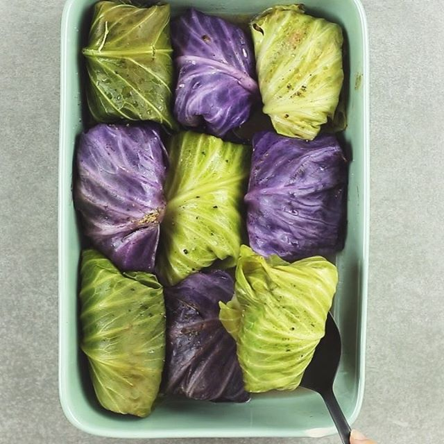 Asian Inspired Stuffed Cabbage Rolls