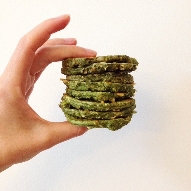 Spinach Oat Pancakes