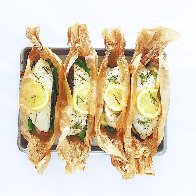 Wild Sea Bass & Veggie Wraps