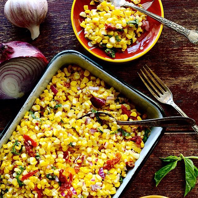 Pan-roasted Tuscan Corn Salad With Sun-dried Tomatoes
