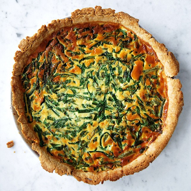 Green Bean And Ramp Quiche