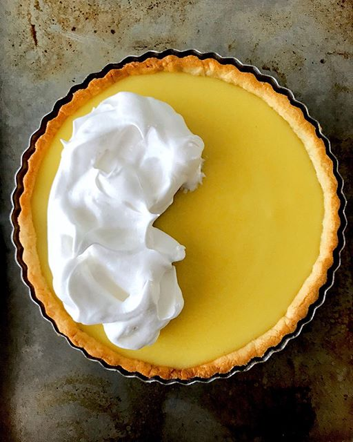 Fresh Lime Tart With Meringue