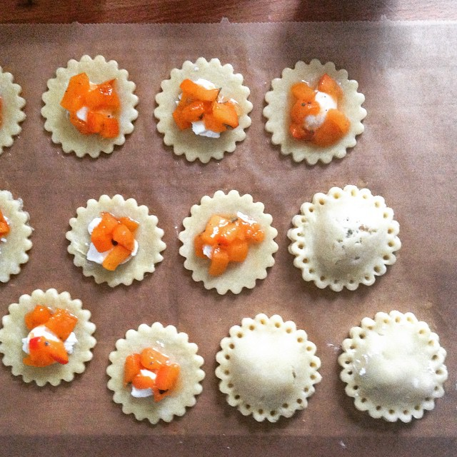 Goat Cream Cheese, Apricot And Sage Hand Pies