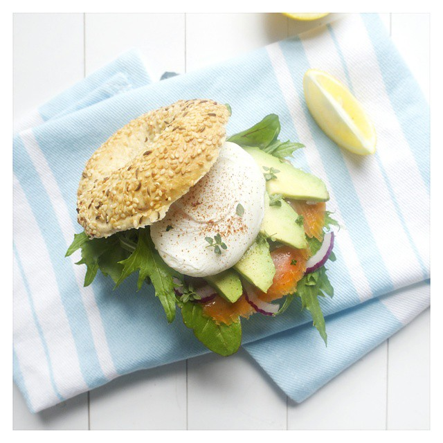 Wholemeal Bagel With The Lot