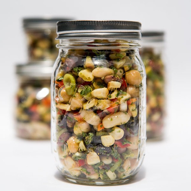 Roasted Corn And Bean Salad Jar