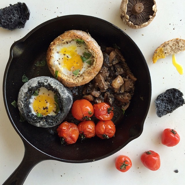 More cast iron fun! Love that it also serves as a handy, compact dish for baking smaller items. Made…
