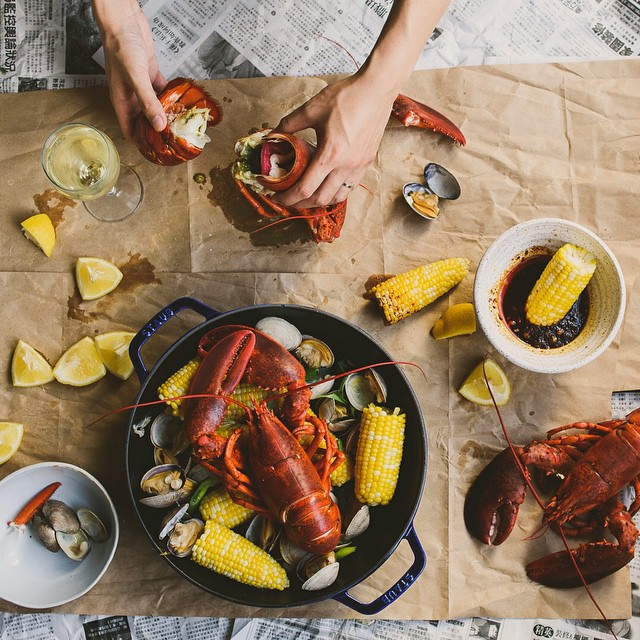Spicy Lobster And Clam Boil With Gochugaru Butter
